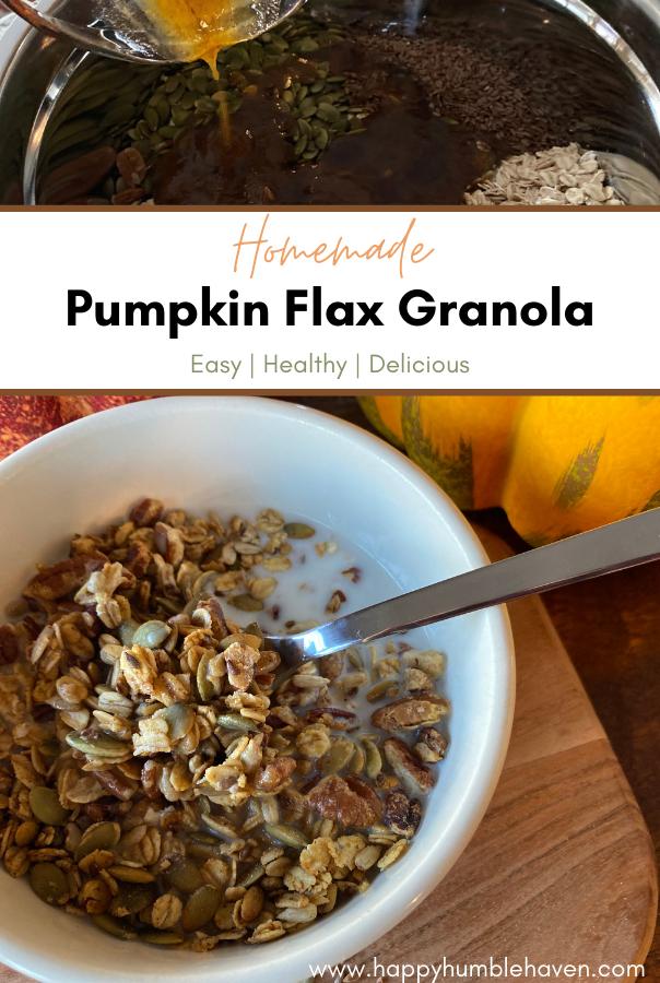 Homemade Pumpkin Flax Granola Happy Humble Haven
